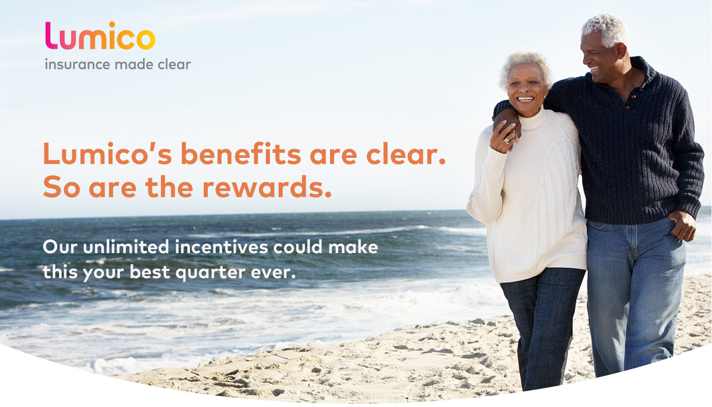 Lumico's benefits are clear. So are the rewards. Our unlimited incentives could make this your best quarter ever.
